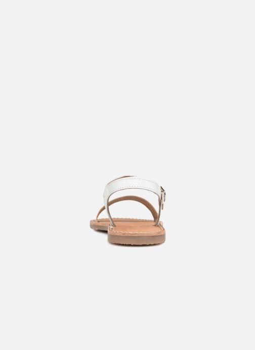 Sandali e scarpe aperte L'Atelier Tropézien Caroline Bianco immagine destra