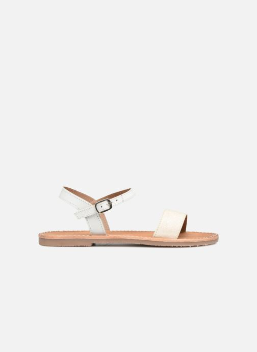Sandali e scarpe aperte L'Atelier Tropézien Caroline Bianco immagine posteriore