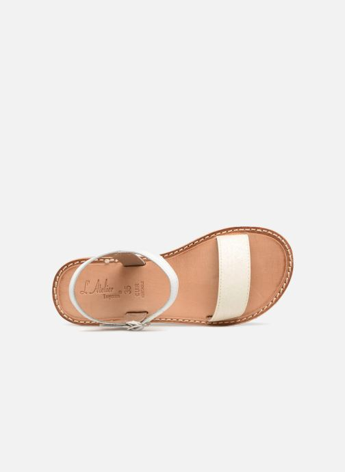 Sandali e scarpe aperte L'Atelier Tropézien Caroline Bianco immagine sinistra