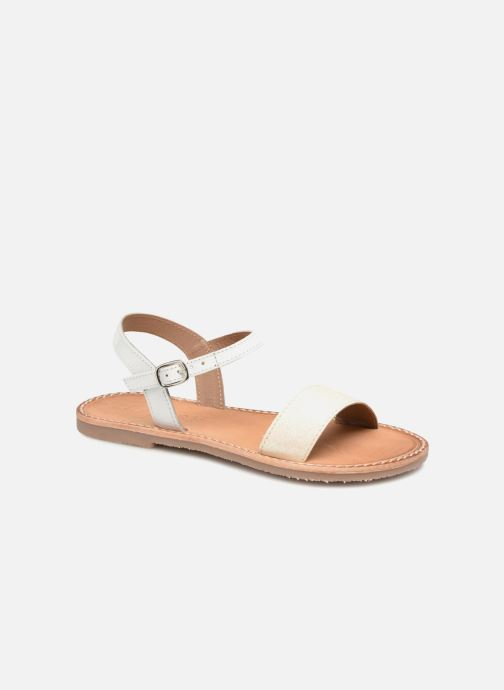 Sandals L'Atelier Tropézien Caroline White detailed view/ Pair view