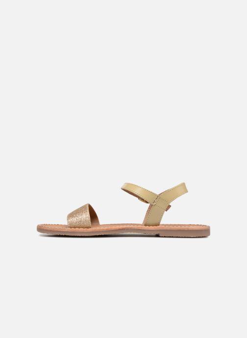 Sandales et nu-pieds L'Atelier Tropézien Caroline Or et bronze vue face