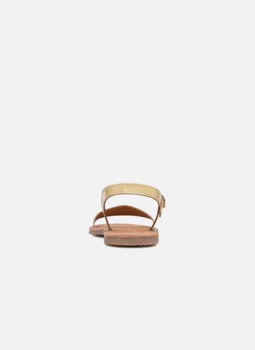 Sandales et nu-pieds L'Atelier Tropézien Caroline Or et bronze vue droite