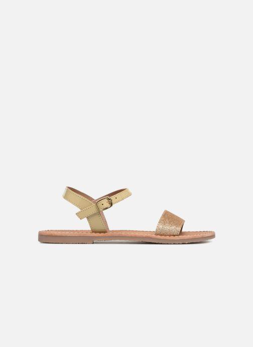Sandales et nu-pieds L'Atelier Tropézien Caroline Or et bronze vue derrière