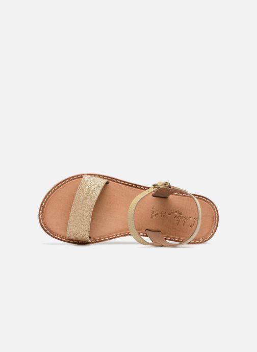 Sandales et nu-pieds L'Atelier Tropézien Caroline Or et bronze vue gauche
