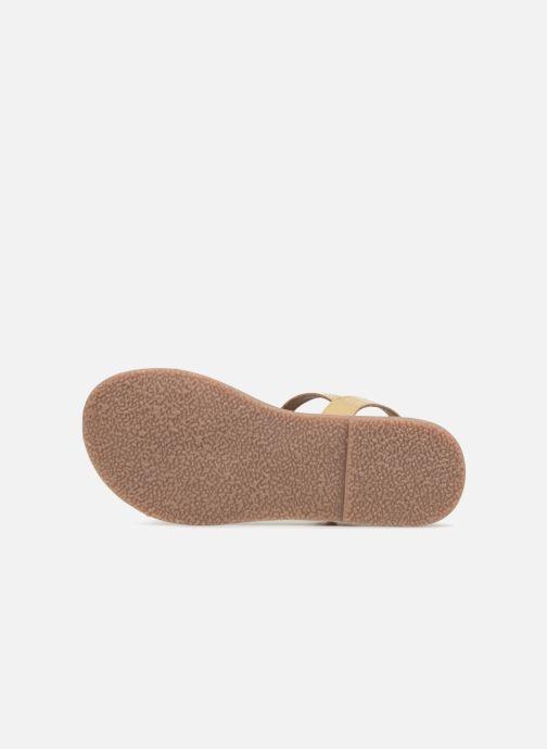 Sandales et nu-pieds L'Atelier Tropézien Caroline Or et bronze vue haut