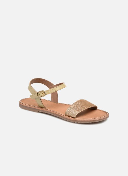 Sandales et nu-pieds L'Atelier Tropézien Caroline Or et bronze vue détail/paire