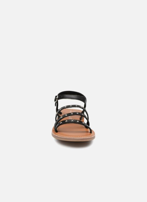 Sandalen L'Atelier Tropézien Antonia schwarz schuhe getragen
