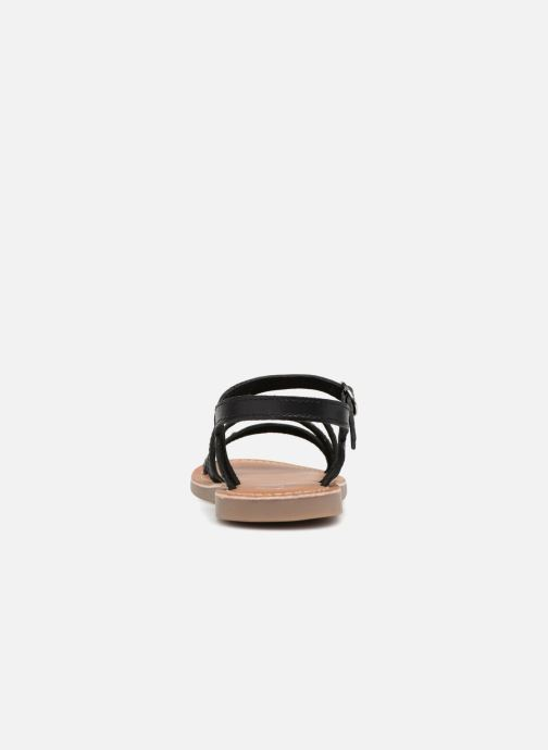 Sandals L'Atelier Tropézien Antonia Black view from the right
