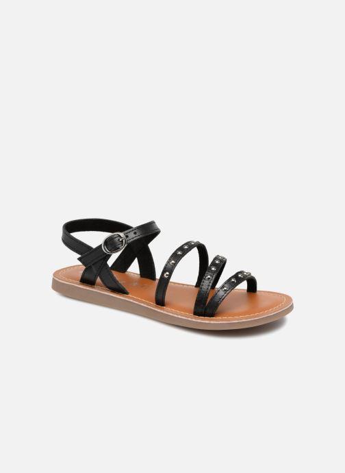 Sandals L'Atelier Tropézien Antonia Black detailed view/ Pair view