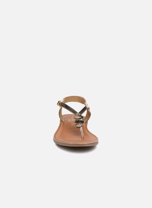 Sandales et nu-pieds L'Atelier Tropézien Sarah Or et bronze vue portées chaussures