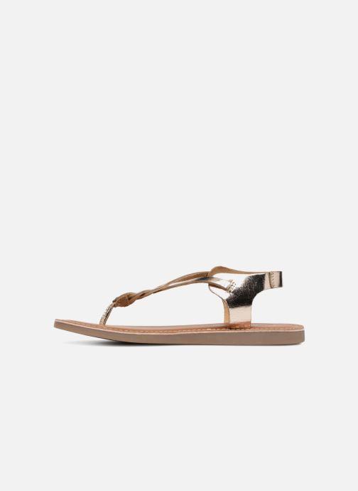 Sandales et nu-pieds L'Atelier Tropézien Sarah Or et bronze vue face