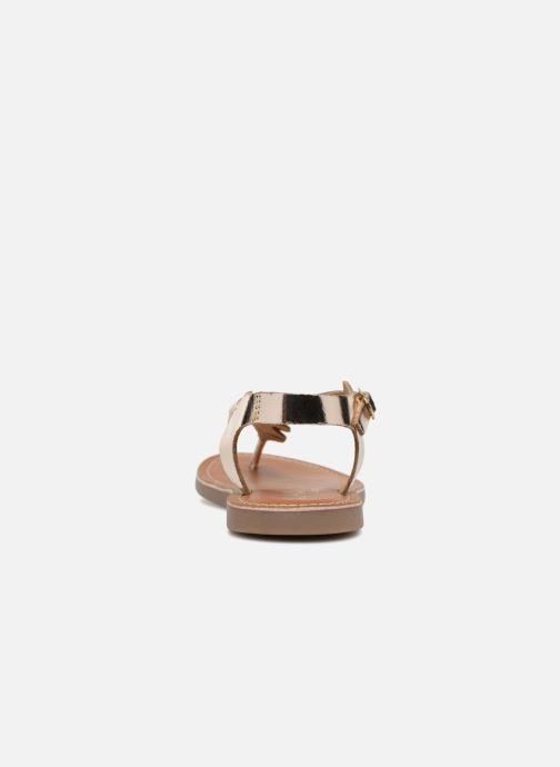 Sandales et nu-pieds L'Atelier Tropézien Sarah Or et bronze vue droite