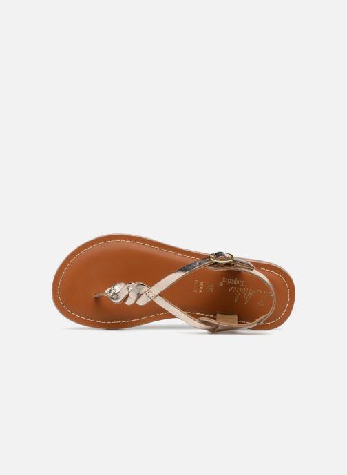 Sandales et nu-pieds L'Atelier Tropézien Sarah Or et bronze vue gauche