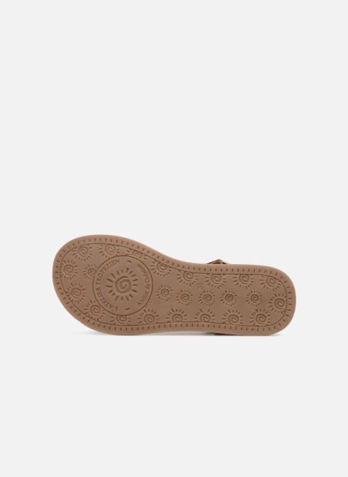 Sandales et nu-pieds L'Atelier Tropézien Sarah Or et bronze vue haut