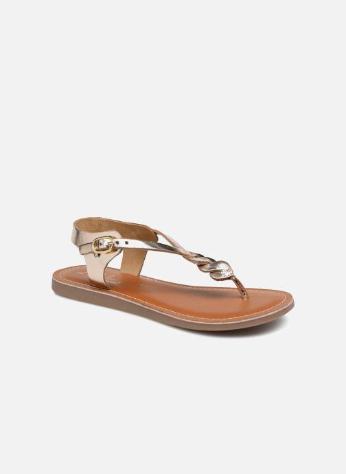Sandales et nu-pieds L'Atelier Tropézien Sarah Or et bronze vue détail/paire