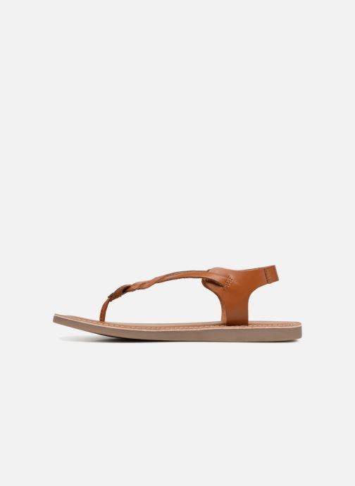 Sandals L'Atelier Tropézien Sarah Brown front view