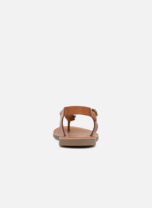 Sandali e scarpe aperte L'Atelier Tropézien Sarah Marrone immagine destra