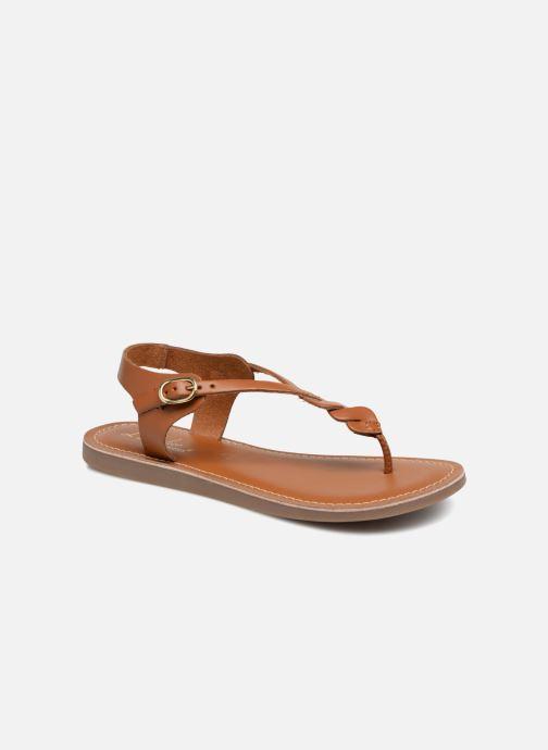 Sandales et nu-pieds L'Atelier Tropézien Sarah Marron vue détail/paire
