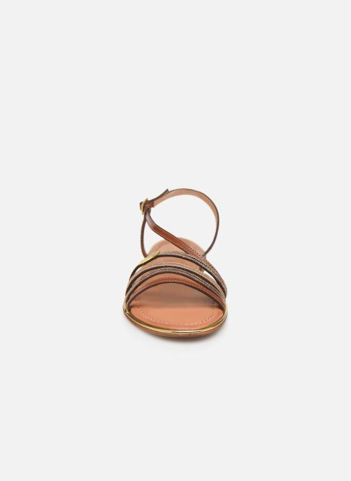 Sandales et nu-pieds Les Tropéziennes par M Belarbi Holidays Marron vue portées chaussures