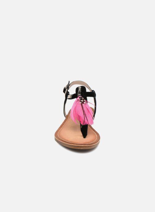 Sandales et nu-pieds Les Tropéziennes par M Belarbi Gaelle Noir vue portées chaussures