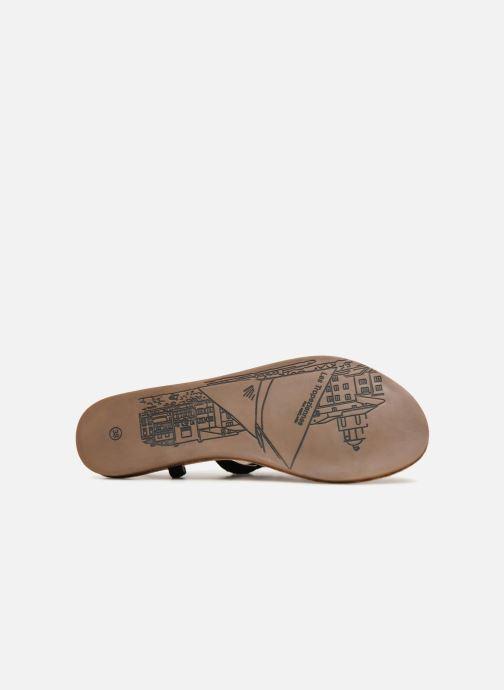 Sandales et nu-pieds Les Tropéziennes par M Belarbi Gaelle Noir vue haut