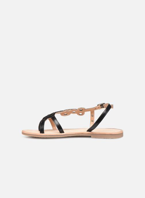 Sandales et nu-pieds Les Tropéziennes par M Belarbi Oups Noir vue face