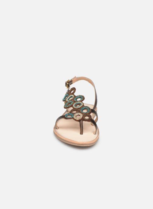 Sandales et nu-pieds Les Tropéziennes par M Belarbi Oups Or et bronze vue portées chaussures