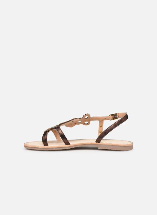 Sandales et nu-pieds Les Tropéziennes par M Belarbi Oups Or et bronze vue face