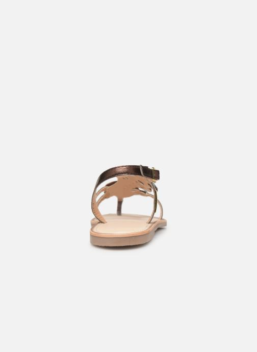Sandales et nu-pieds Les Tropéziennes par M Belarbi Oups Or et bronze vue droite
