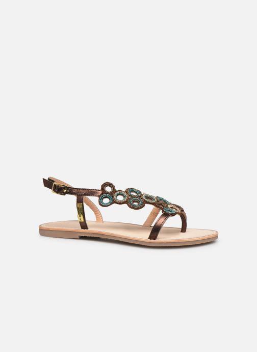 Sandales et nu-pieds Les Tropéziennes par M Belarbi Oups Or et bronze vue derrière