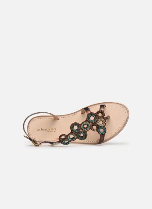 Sandales et nu-pieds Les Tropéziennes par M Belarbi Oups Or et bronze vue gauche