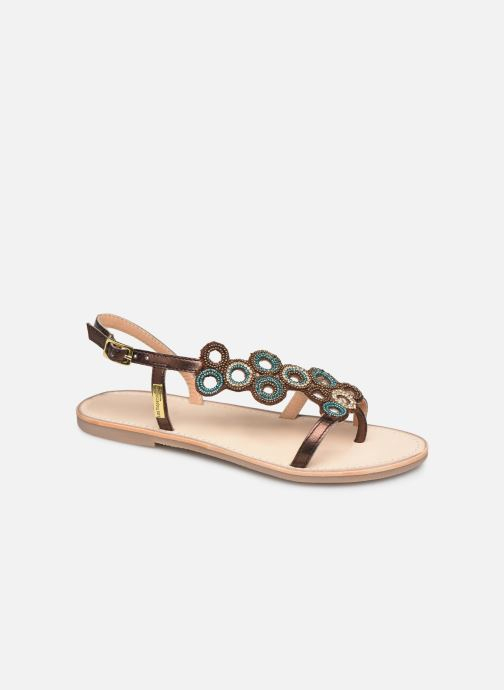 Sandals Les Tropéziennes par M Belarbi Oups Bronze and Gold detailed view/ Pair view