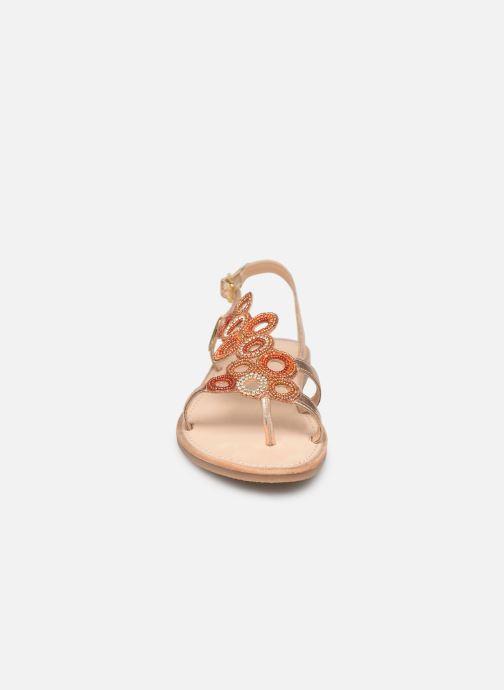 Sandales et nu-pieds Les Tropéziennes par M Belarbi Oups Orange vue portées chaussures