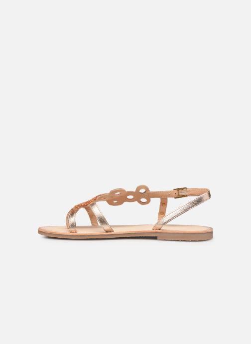 Sandales et nu-pieds Les Tropéziennes par M Belarbi Oups Orange vue face