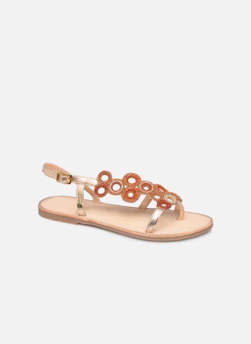 Sandales et nu-pieds Les Tropéziennes par M Belarbi Oups Orange vue détail/paire