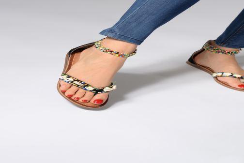 Sandalen Les Tropéziennes par M Belarbi Getta schwarz ansicht von unten / tasche getragen