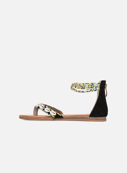 Sandales et nu-pieds Les Tropéziennes par M Belarbi Getta Noir vue face
