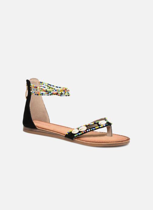 Sandales et nu-pieds Les Tropéziennes par M Belarbi Getta Noir vue détail/paire