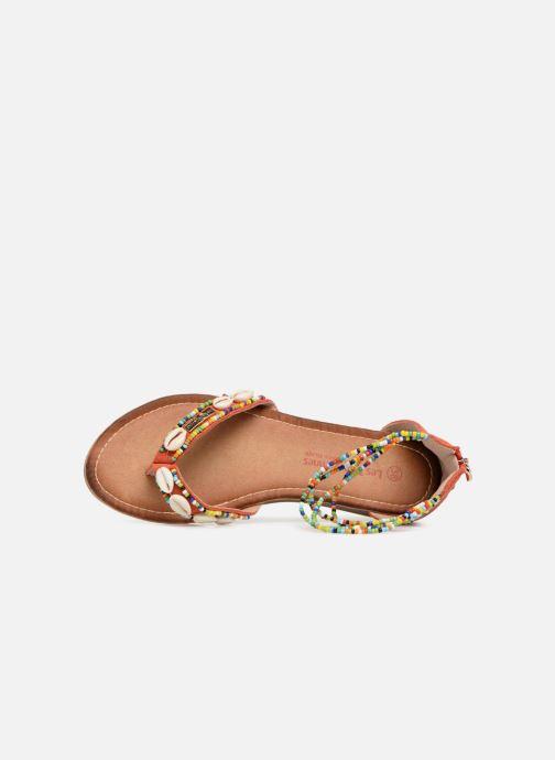 Sandales et nu-pieds Les Tropéziennes par M Belarbi Getta Rouge vue gauche