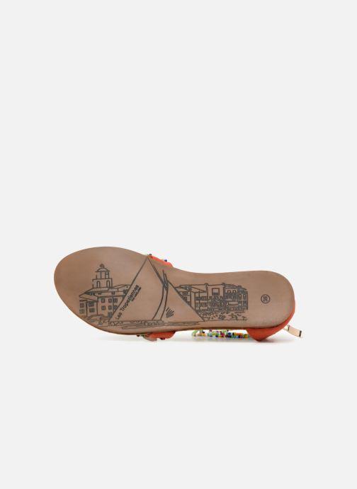 Sandales et nu-pieds Les Tropéziennes par M Belarbi Getta Rouge vue haut