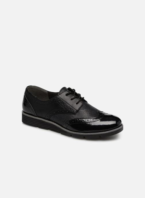 Lace-up shoes S.Oliver Eliliane Black detailed view/ Pair view