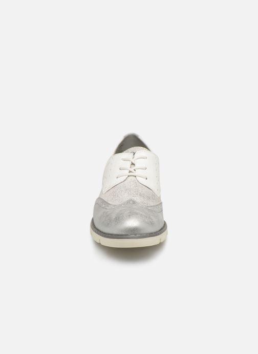 Chaussures à lacets S.Oliver Eliliane Blanc vue portées chaussures