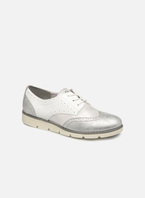 Lace-up shoes S.Oliver Eliliane White detailed view/ Pair view