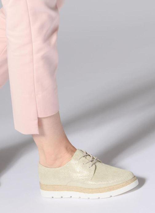 Chaussures à lacets S.Oliver Lormine Or et bronze vue bas / vue portée sac