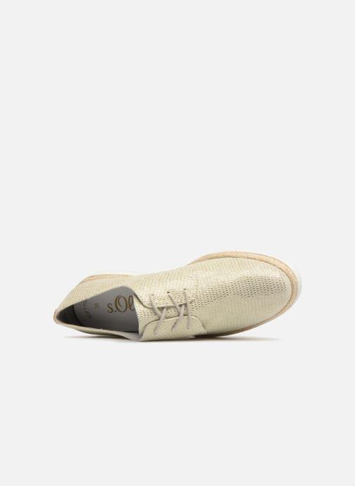 Chaussures à lacets S.Oliver Lormine Or et bronze vue gauche