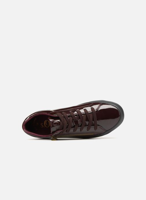 Trainers S.Oliver Boreas Burgundy view from the left