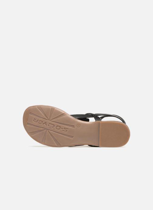 Sandales et nu-pieds S.Oliver Laiktane Noir vue haut