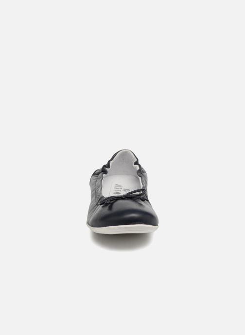 Ballerines ASSO Nadia Bleu vue portées chaussures