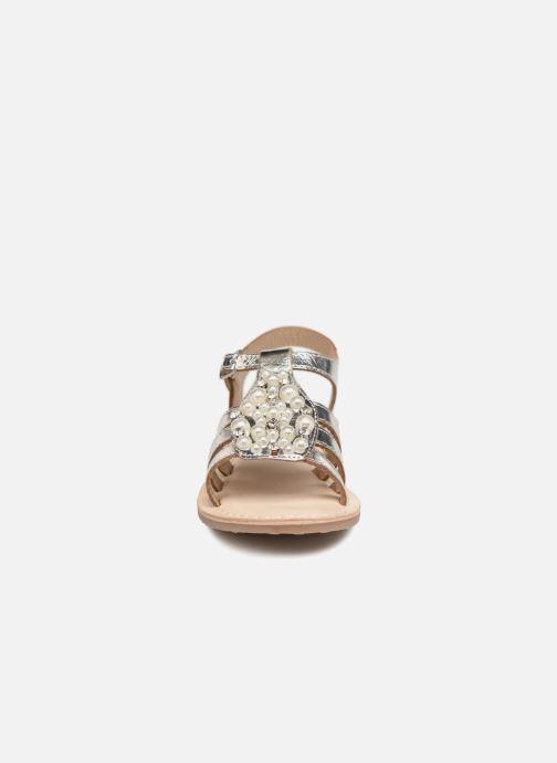 Sandales et nu-pieds ASSO Viviana Argent vue portées chaussures
