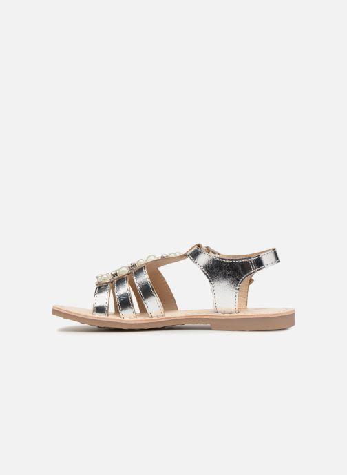 Sandales et nu-pieds ASSO Viviana Argent vue face